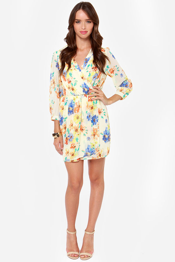 LULUS Exclusive Tend the Garden Cream Floral Print Dress at Lulus.com!