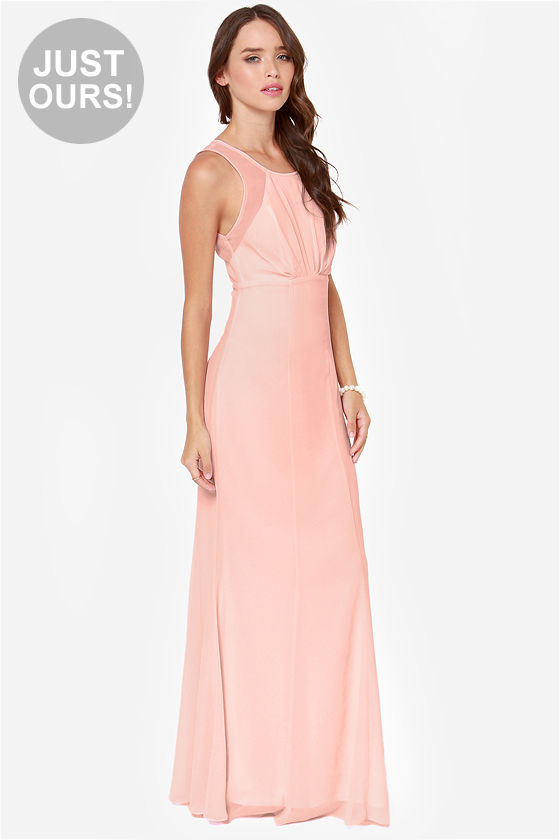 bad53e768ce Beautiful Pink Dress - Light Pink Dress - Maxi Dress - Bridesmaid ...