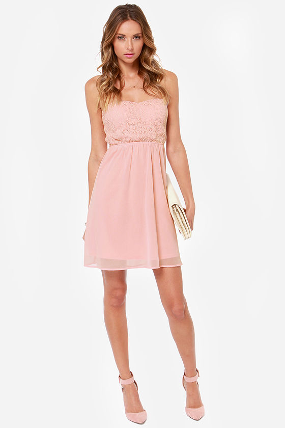LULUS Exclusive Fun Forever Crochet Blush Pink Dress at Lulus.com!