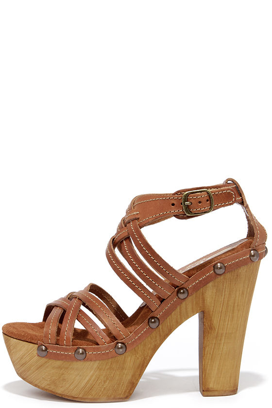 cb262aa5ccd Cute Tan Sandals - Platform Sandals - High Heel Sandals -  89.00