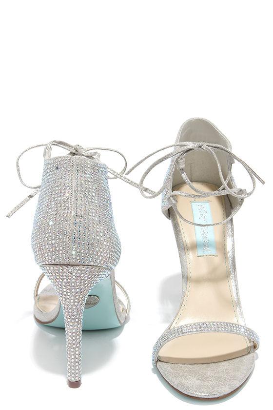f1d26f6cda0 Sexy Silver Heels - Rhinestone Heels - Dress Sandals -  129.00