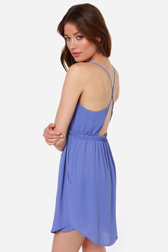 Lucy Love Crazy For You Periwinkle Dress at Lulus.com!