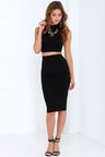 Black Dress - Two-Piece Dress - Bodycon Dress - Midi Dress -  68.00 67f50773e143