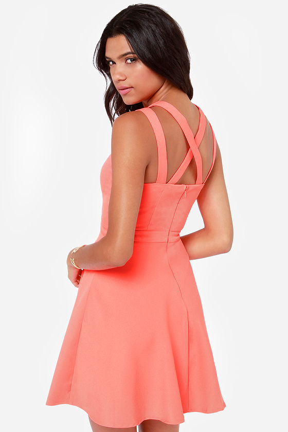 LULUS Exclusive Make It You Bright Coral Dress at Lulus.com!