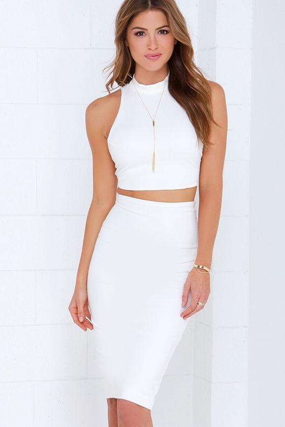 766ad6d43da Ivory Dress - Two-Piece Dress - Bodycon Dress - Midi Dress -  68.00