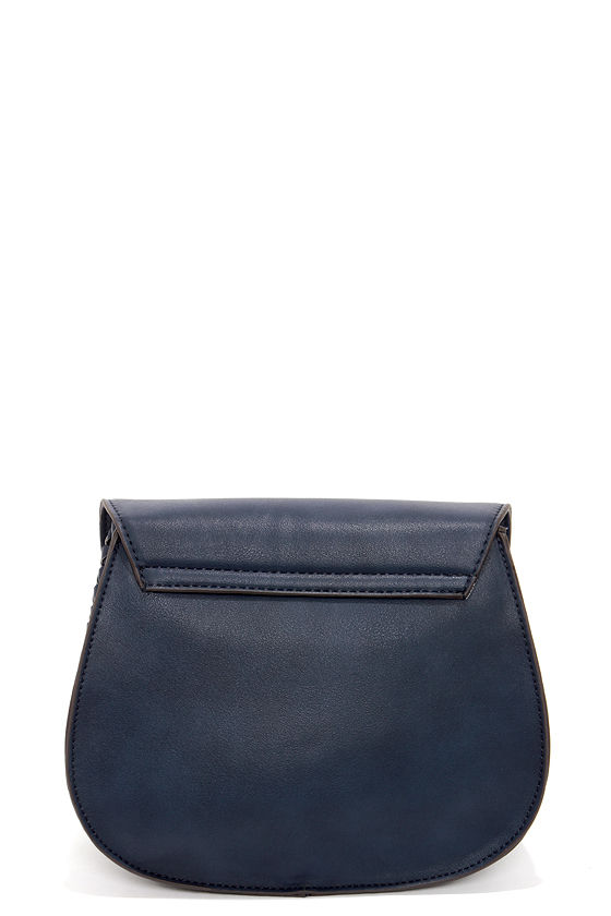 Side Saddle Navy Blue Purse at Lulus.com!