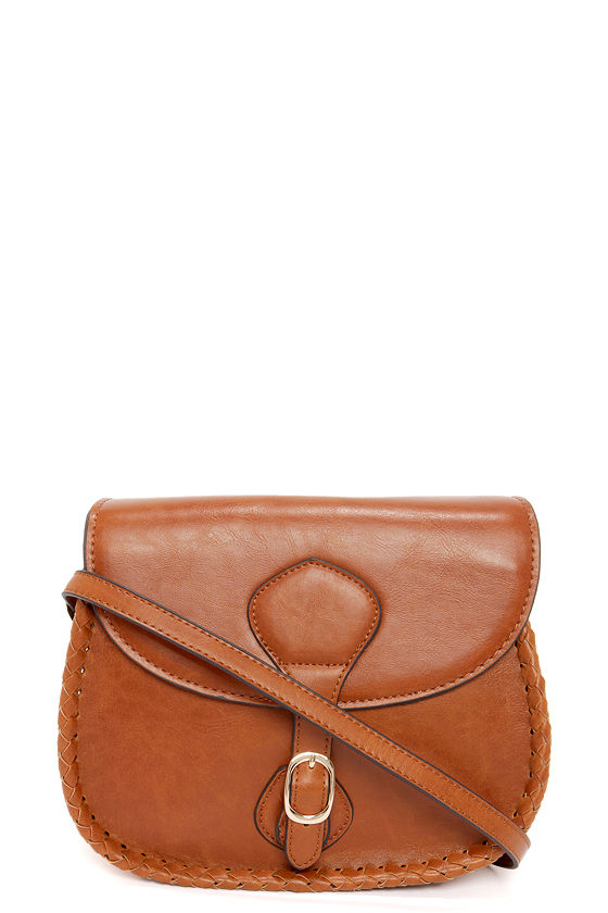 Cute Tan Purse - Cross-Body Purse - Vegan Leather Purse - $57.00