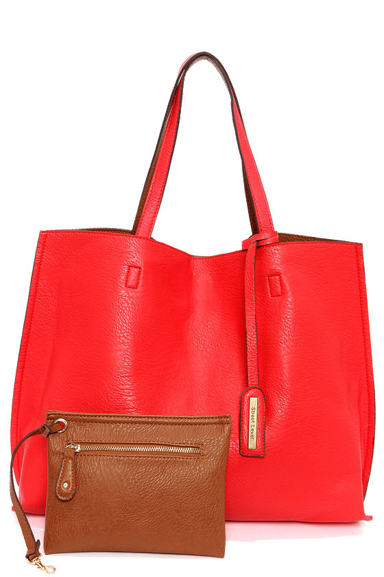 Switch it Up Reversible Red Tote at Lulus.com!
