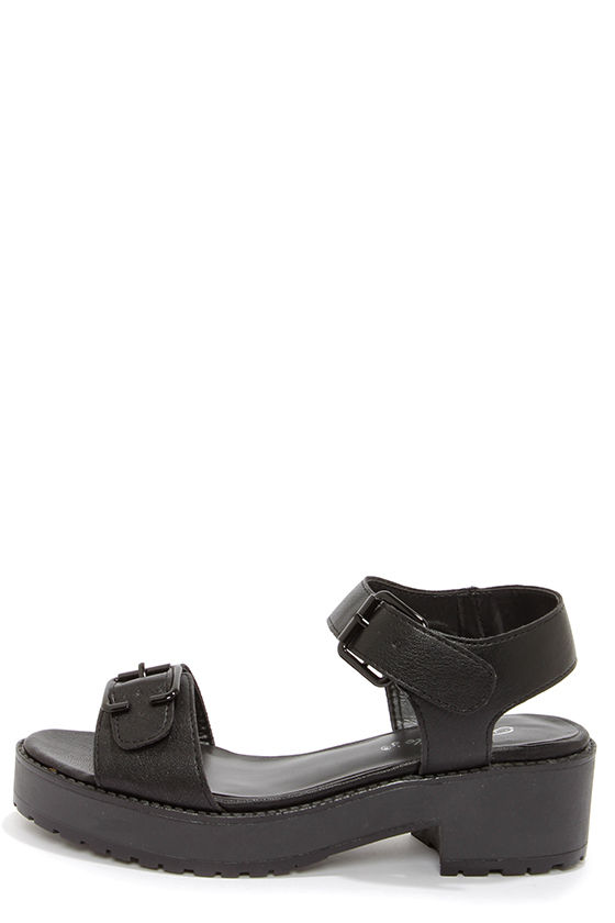 4f9351671 Cute Black Sandals - Platform Sandals - $28.00