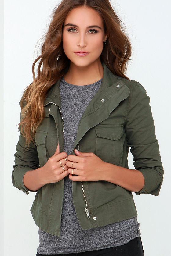 BB Dakota Pax Jacket - Olive Green Jacket - Army Jacket - $83.00