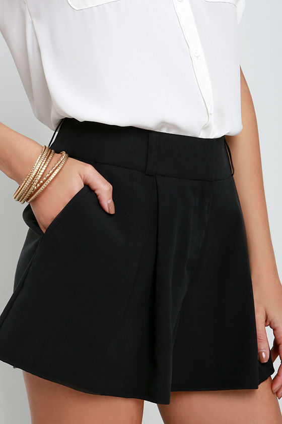 ec8b81a9a116 Chic Black Shorts - Tailored Shorts - Pleated Shorts - $42.00