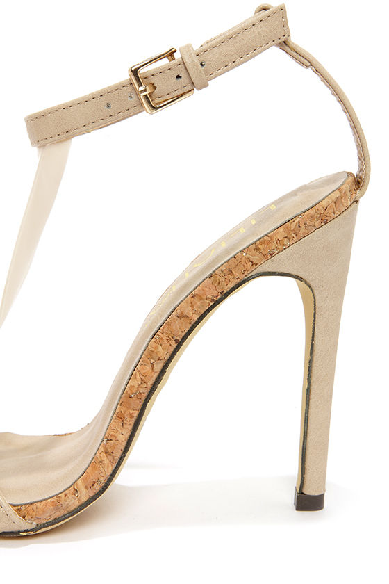 Golden 14 Taupe T Strap Dress Sandals at Lulus.com!