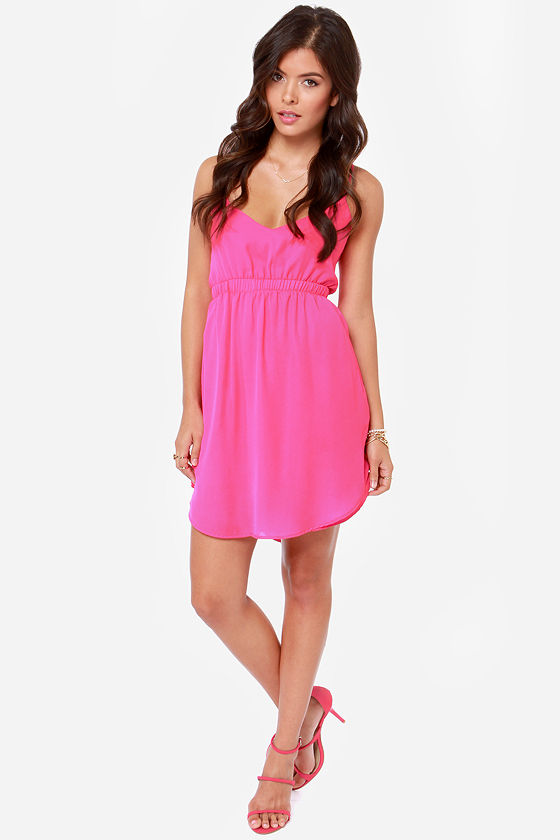 Lucy Love Crazy For You Fuchsia Dress at Lulus.com!
