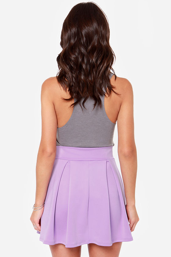 LULUS Exclusive Times Flare Lavender Skirt at Lulus.com!
