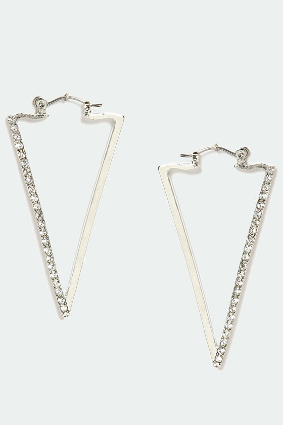 Prove a Point Silver Earrings at Lulus.com!