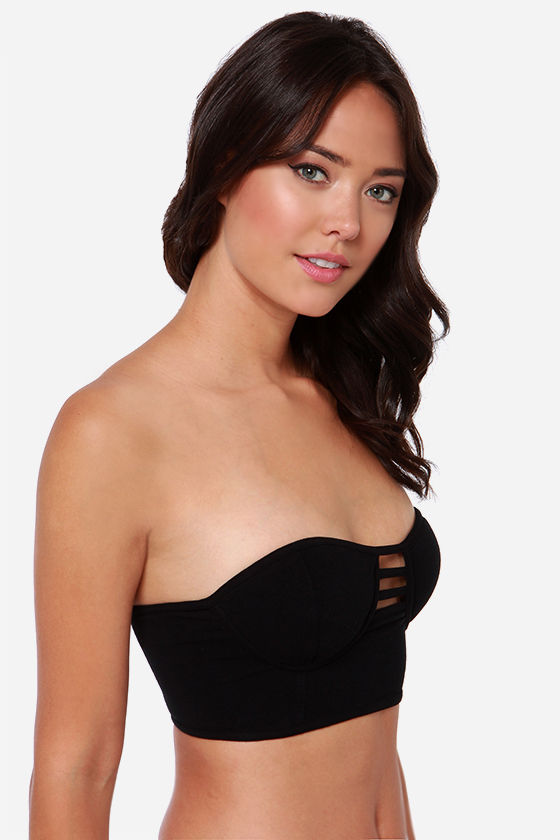 Obey Rockaway Train Black Bustier Top at Lulus.com!