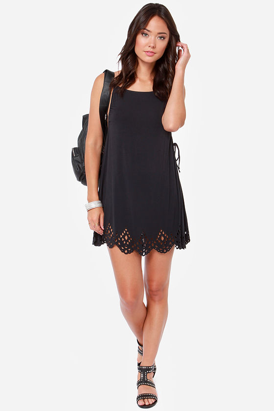 08156d2d3d7 Volcom Bittersweet Dress - Laser Cut Dress - Black Dress -  49.50
