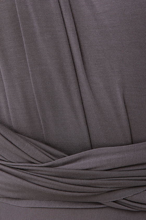 LULUS Exclusive Tricks of the Trade Dark Grey Maxi Dress at Lulus.com!