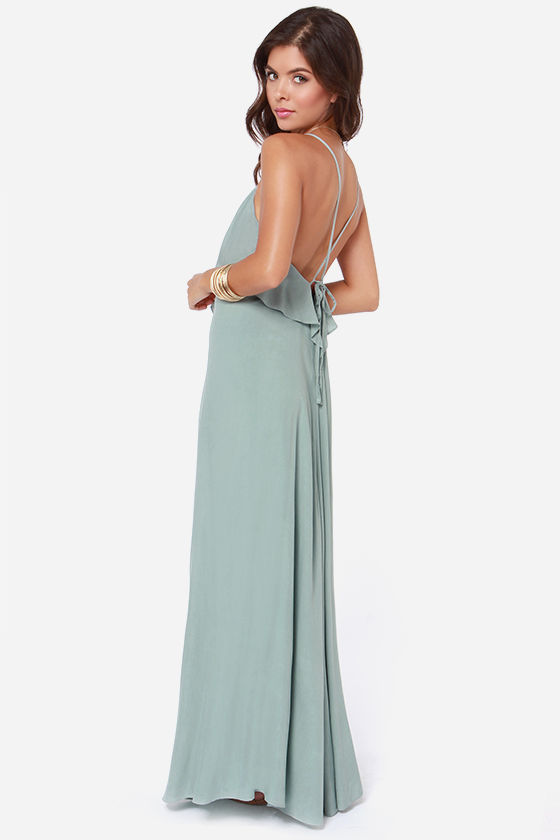 LULUS Exclusive Silent Lagoon Sage Green Maxi Dress at Lulus.com!