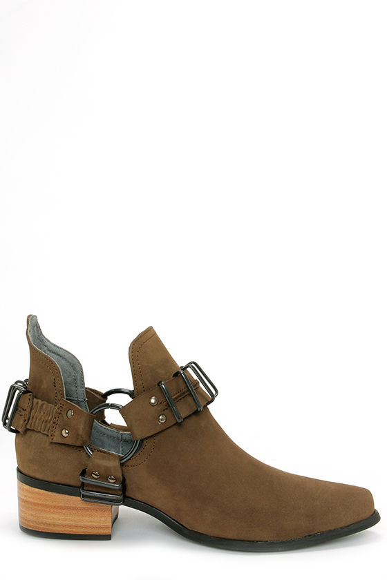 Grey City Willa Charcoal Cutout Ankle Boots at Lulus.com!