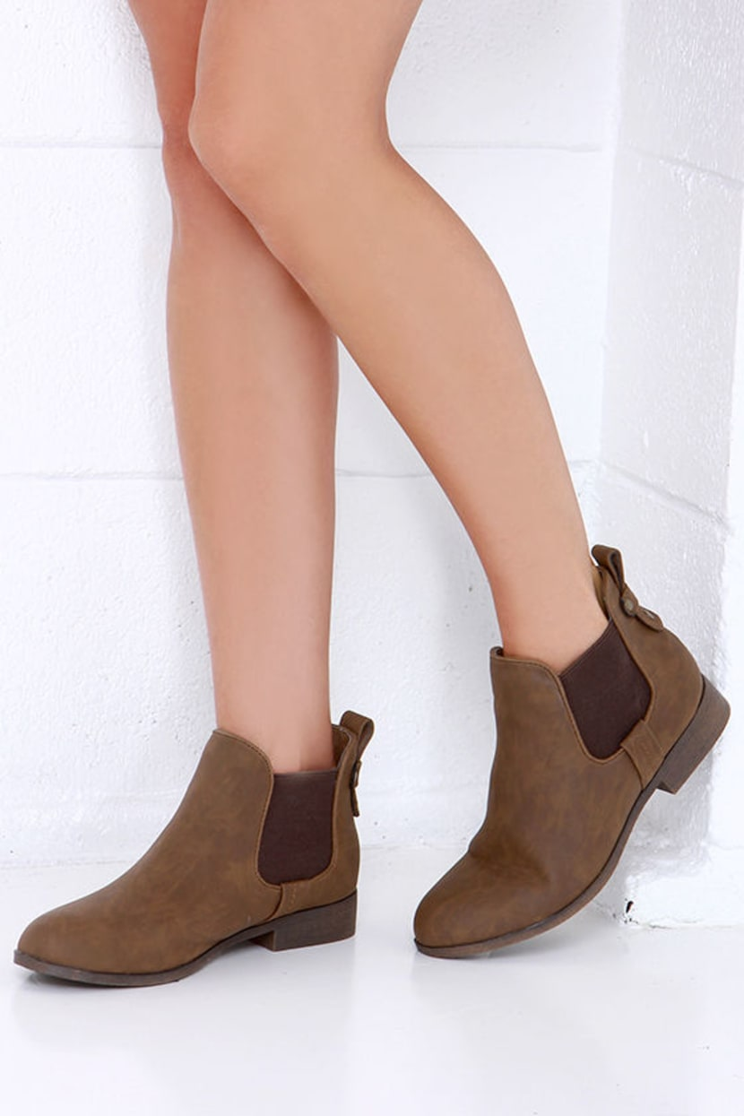 girls brown chelsea boots