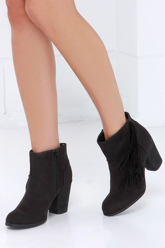 Booties - Fringe Booties - Ankle Boots