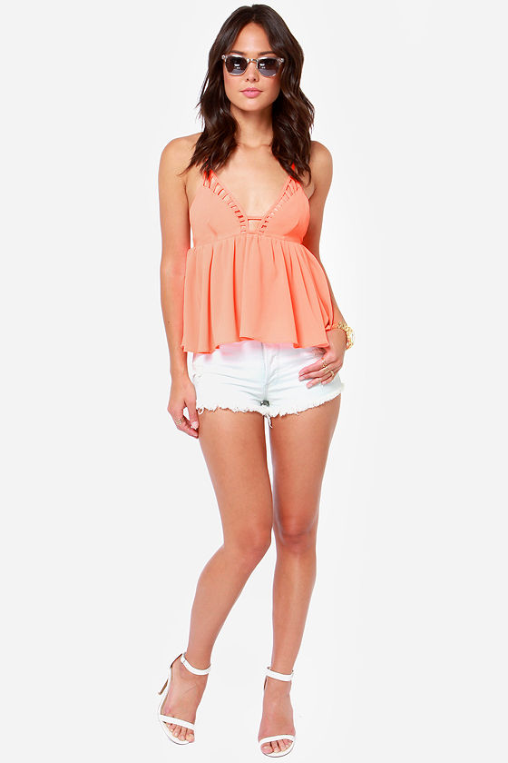 Instant Gratification Neon Coral Tank Top at Lulus.com!