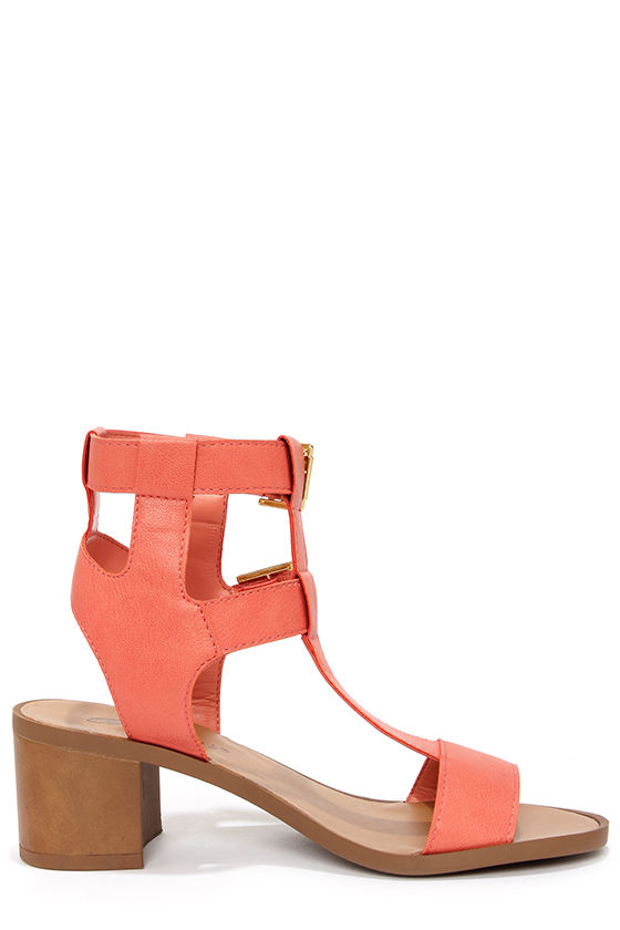 Robin 21 Soft Peach Caged Sandals at Lulus.com!