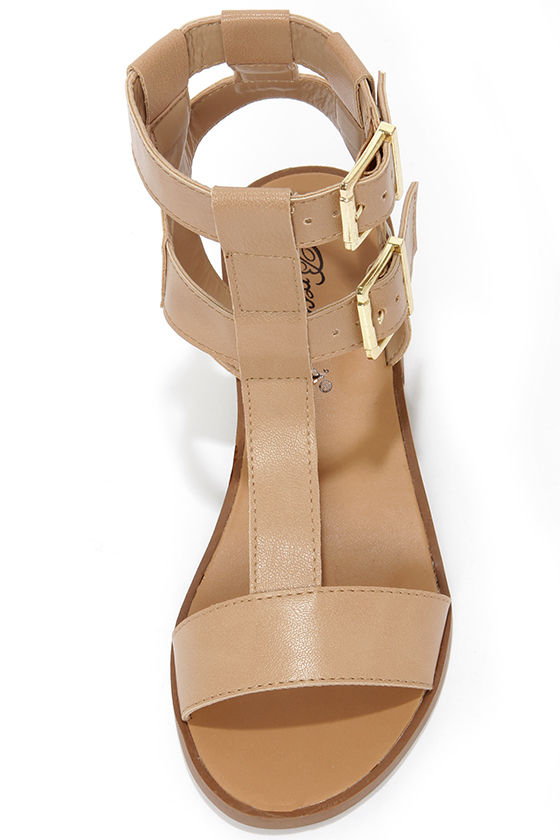 Robin 21 Natural Caged Sandals at Lulus.com!