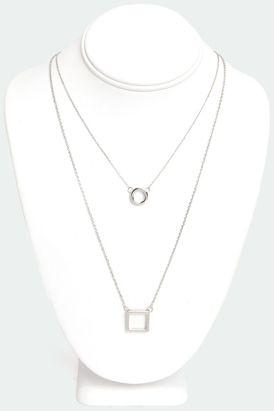 Shaping Lives Silver Layered Necklace at Lulus.com!