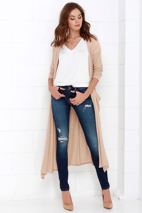 Blank NYC Skinny Classique Distressed Dark Blue Skinny Jeans 2
