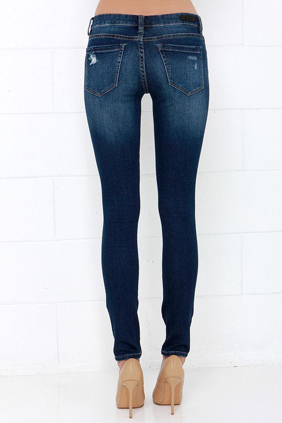 Blank NYC Skinny Classique Distressed Dark Blue Skinny Jeans 5