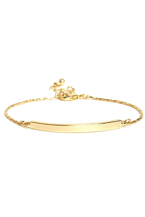 Pass the Bar Gold Bracelet at Lulus.com!