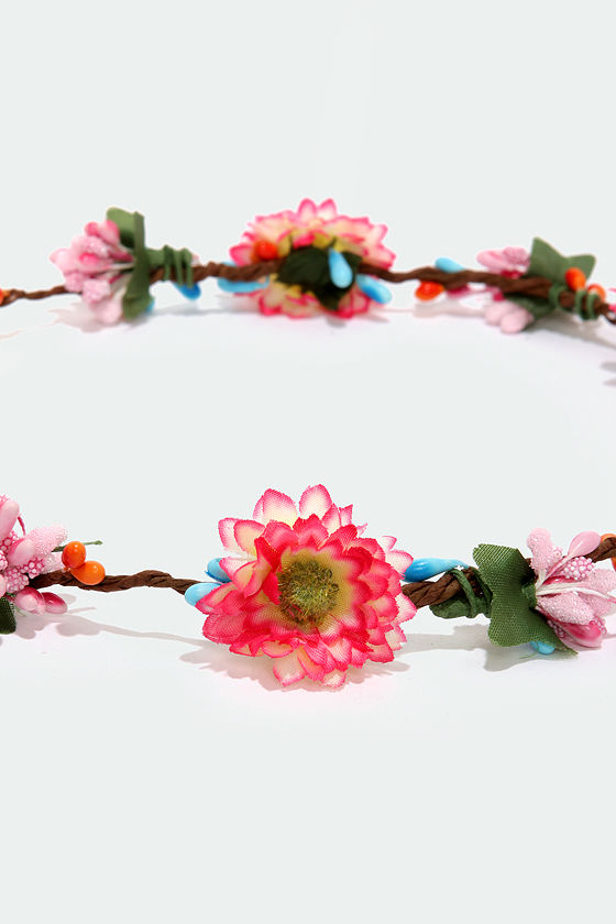From the Top Fuchsia Flower Crown at Lulus.com!