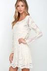 Black Swan Heidi Dress - Cream Dress - Lace Dress - Embroidered ... 0c50194f3763
