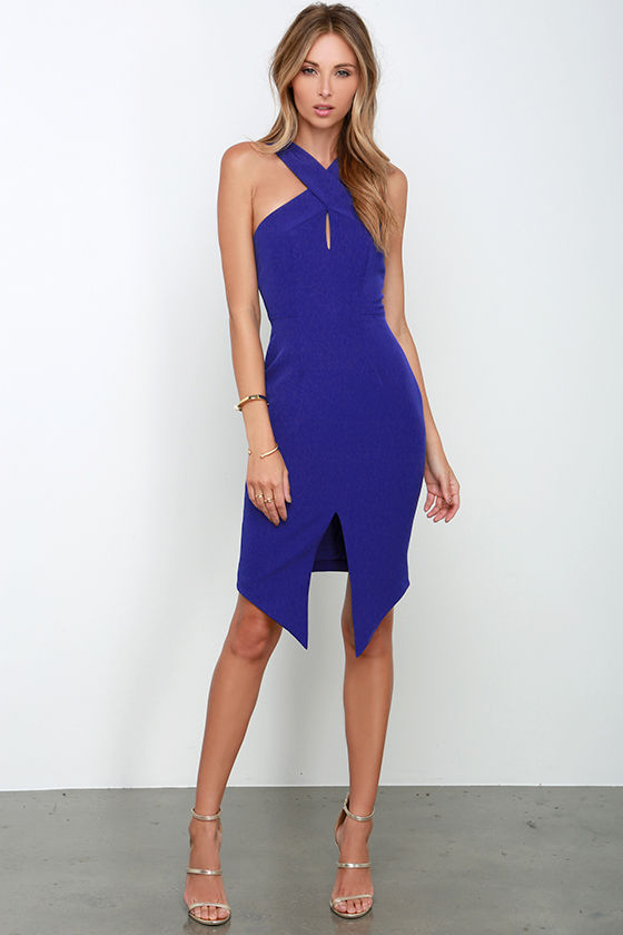 Keepsake Tainted Romance Dress - Cobalt Blue Dress - $160.00