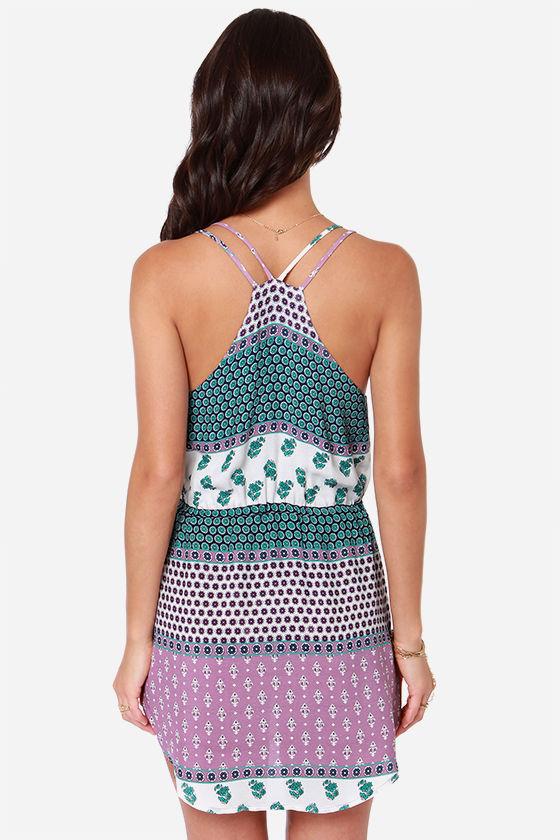 Lucy Love Dream Cloud Purple Print Dress at Lulus.com!