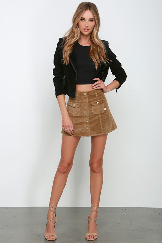 Skirts. A skirt plus ankle boots or sneakers is our favorite go-to. Want to shop the look? Check out our collection of essential mini skirts in denim, corduroy and leather, pleated plaid skirts, velvet wrap skirts, bodycon minis, floral midi skirts and button-up flowy skirts in a maxi length.