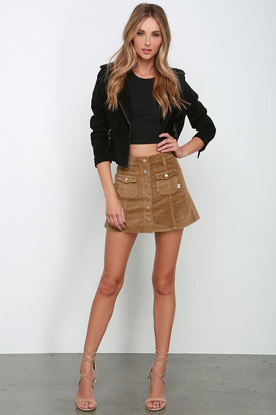 Brown Corduroy Skirt 109