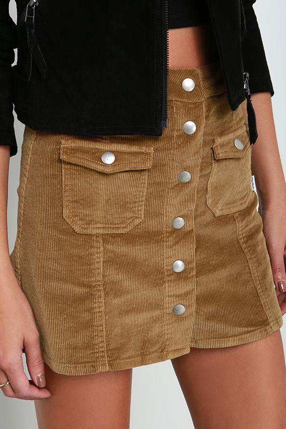 Brown Corduroy Skirt 112