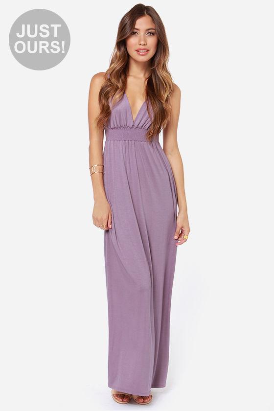 Cute Purple Dress - Maxi Dress - $46.00