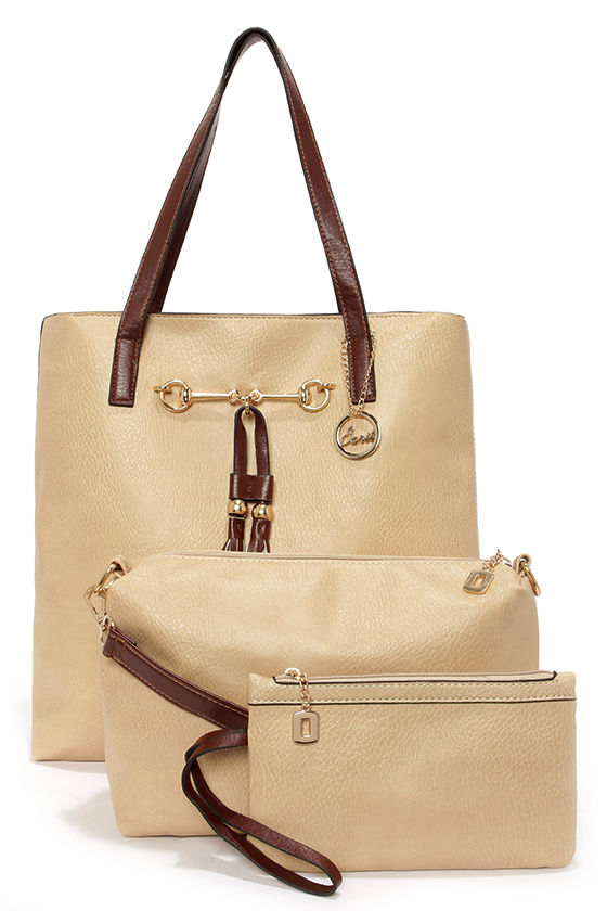 Two Peas in a Pod Light Beige Tote at Lulus.com!