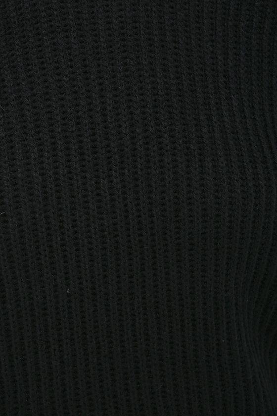 Knit a Chance Black Backless Sweater 6