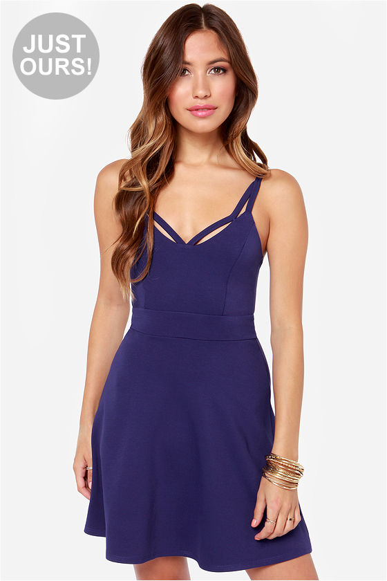 LULUS Exclusive I Saw the Sign Royal Blue Dress at Lulus.com!