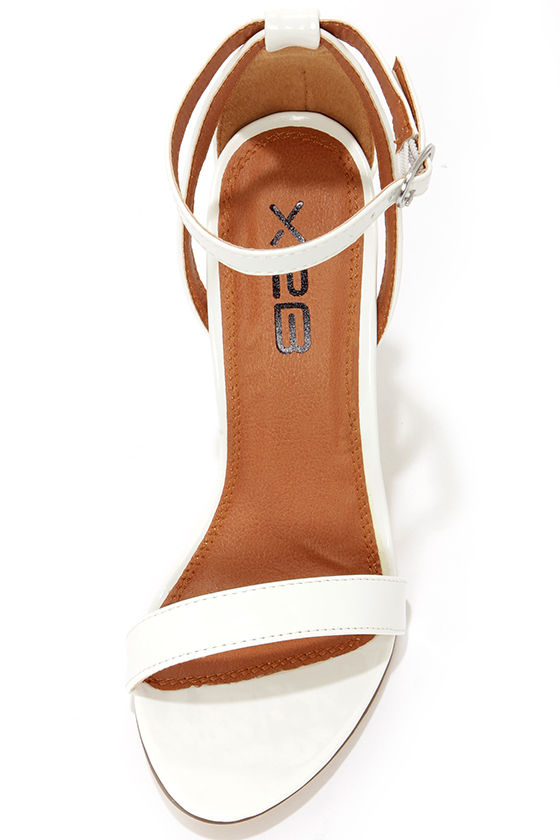 Lola 1 White Patent Ankle Strap Heels at Lulus.com!
