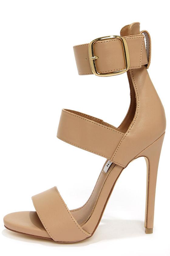 sexy nude heels ankle strap heels dress sandals. Black Bedroom Furniture Sets. Home Design Ideas