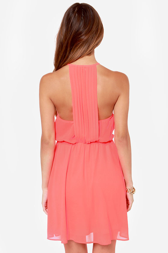 LULUS Exclusive Start Something Neon Pink Dress at Lulus.com!