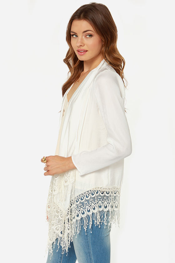 Lucy Love Victorian Ivory Lace Top at Lulus.com!