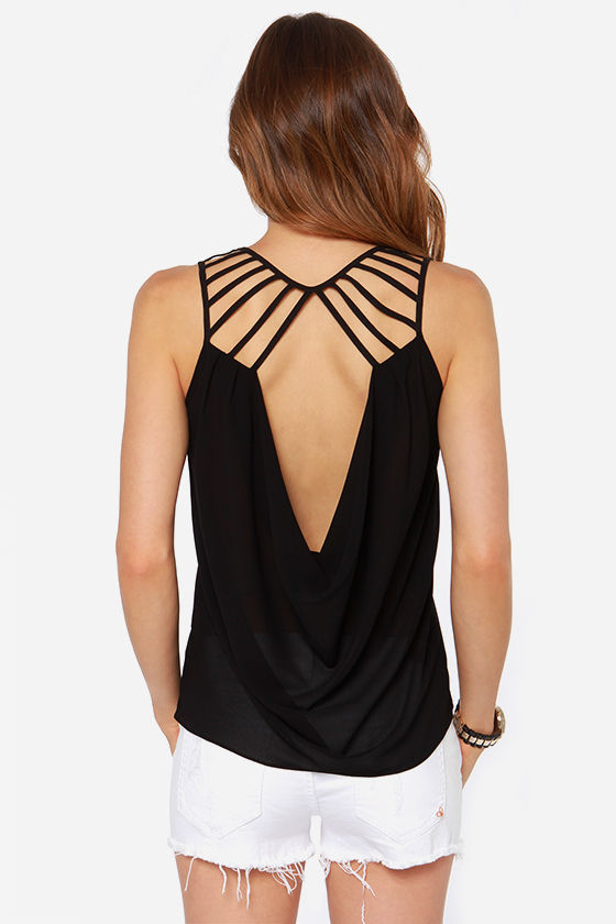 LULUS Exclusive Play the Part Black Top at Lulus.com!