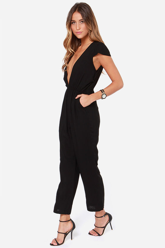 LULUS Exclusive Follow Suit Black Jumpsuit at Lulus.com!